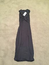 $120 KOOKAI Black Vice Wrap Crossover Fitted Dress NEW 1 6 8