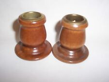 Short wooden candlesticks vintage Lot of 2 Homco Home Interiors