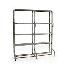 "82.5"" Industrial Nelia Double Warehouse Shelving 10 Shelves  Steel modern"