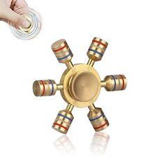 Six Winged EDC Luminous Hand Spinner Brass Bearing Fidget Toys Stress Relieve