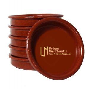 "Set of 6: 14cm Spanish ""Cazuela"" earthenware Tapas dish"