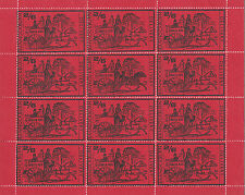 1971 STRIKE MAIL BANNOCKBURN 2/6 BLACK RED COMMEMORATIVES FULL SHEET OF 12 MNH