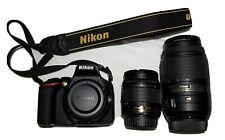 Nikon D5600 DSLR Camera with 18-55mm f/3.5-5.6G VR and 55-300mm f/4.5-5.6G Lens