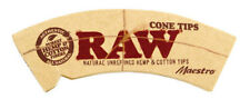 RAW MAESTRO NATURAL CONE TIPS - 32 TIPS - RAW PERFORATED ROLLING TIPS - RAW TIPS