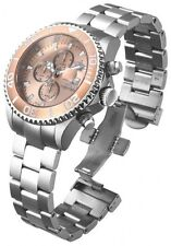 New Men's Invicta 18003 Sea Base Swiss Chronograph Rose Tone Dial Steel Watch