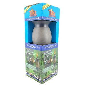 TIKI Brand 63-inch Resin Jar TIKI Torch 4-in-1 Stone Color - 2 Pack