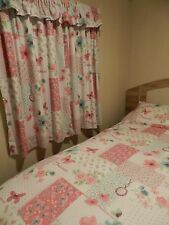 STATIC CARAVAN BLACKOUT BEDROOM CURTAINS WITH PELMET AND MATCHING BEDDING
