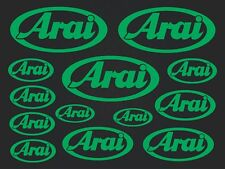 Arai - set of stickers- motosport - 13 kit- green SK-151