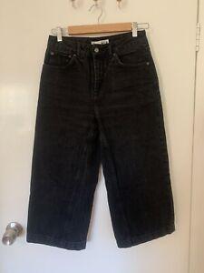 Topshop Petite Black Wide Leg Jeans Size 28