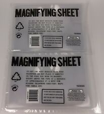 "2 Full Page Magnifying Sheets Lens 3X Magnification Reading Aid 7"" x 10"""