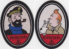 Ecusson à coller thermocollant - Tintin Babord & Capitaine Haddock Tribord