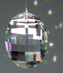 "Swarovski 32mm Matrix Crystal Clear Pendant Prism Suncatcher w Logo 1-1/4"""