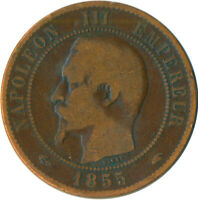COIN / FRANCE / 10 CENTIMES 1855 NAPOLEON III. #WT5518