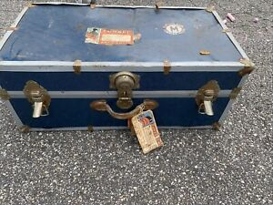 Vintage 1970's Shipping  Lock Storage Trunk Chest Collectable Cunard Line Travel