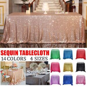 60*60cm Sequin Tablecloth Glitter Table Cloth Wedding Party Home Decor Supplies