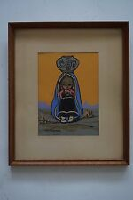 Gerda Christoffersen (1917-2012) Danish 1950's Oodees Zuni Indian Girl 102 print