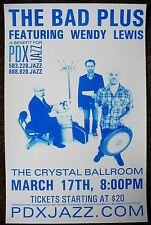 THE BAD PLUS 2009 Gig POSTER Portland Oregon Concert