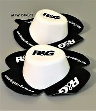 R&G Racing New Aero 'WET' Knee Sliders in White (a pair ) Road, Race, Track Day