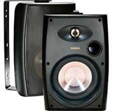 """NXG indoor/outdoor/marine all-weather speakers NX-AW4B/2way 4"""" 75 watt Black"""