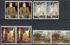 Great Britain 1968 Sc#568-71 set Elizabeth Pink Mary Port Hay Wayne Gb pairs Mnh