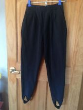 Nordstrom Heavyweight Thick Cotton Stirrup Leggings Dark Grey Black Sz S Pockets