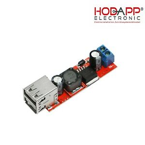 DC Spannungsregler 6V-40V to 5V 3A Double USB Charge DC Step-down Module LM2596S