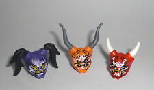 LEGO Ninjago - 3x Oni Maske Hass Vergeltung Täuschung - Minifig Figur Mask 70643