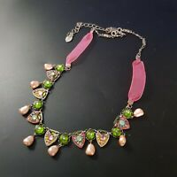 Adaya Israeli Designer Necklace Beaded Handcrafted Signed