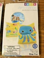 NEW LOT of 3 Intex Arm Bands Swim Inflatable Water Wings Octopus 3-6 Years