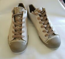 Vintage Men's Size 11.5 Pro Keds Leather Low Top Sneakers Shoes Tan Camo Euc