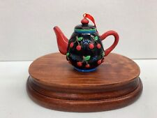 Mary Engelbreit Ink 2-1/4� Cherries Teapot Ornament