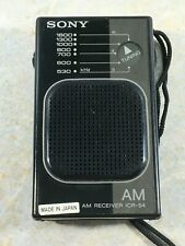 Sony ICR-S4 AM Portable Radio - Works Great Japan