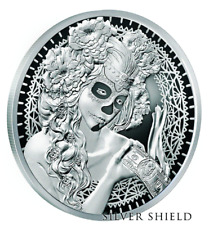 2017 1oz .999 Silver Shield - Death Of The Dollar #10 - La Muerte Del Dolar - BU