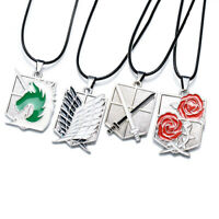 Attack on Titan Scout Regiment Trainees Stationed Corps Squad Pendant Necklace