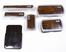 Lot (6) Vintage Men's Grooming Set: Toothbrush Comb Brush Shaving & Soap Holders