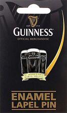 Guinness Three Glasses metal lapel pin badge. Licensed (sg 5060)  + FREE GIFT*