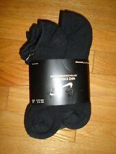 Nike Mens Socks 6 Pair Black No Show Cotton Cushioned Dri-Fit 6 Pack NWT
