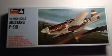 VINTAGE (1/4 INCH SCALE) MONOGRAM MUSTANG P-51B MODEL KIT OPEN BOX/ALL PARTS
