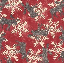 SNOWY MOOSE CHRISTMAS  GIFT WRAPPING PAPER - 30 Ft Roll