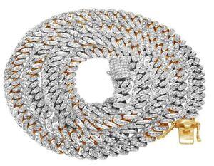 "Men's 10K Yellow Gold Genuine Diamond 6MM Miami Cuban Choker Chain Necklace 21"""
