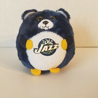 "2012 Utah Jazz TY Beanie Ballz 5"" Plush Ball Baby Toy, Basketball NBA Blue Round"