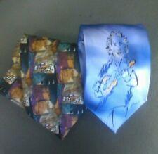 Jerry Garcia Men's Tie Lot (2) Collectors Edition and Mandolin Player!!!