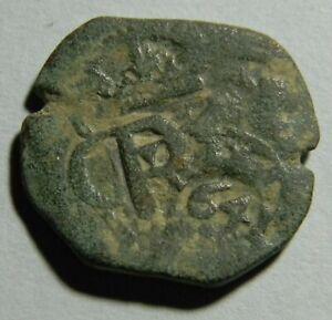 Spain 1641 Colonial Cob Coin    (01552)