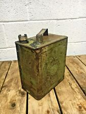 Vintage oil can , Rare Vintage Military petrol can