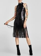 Zara kurzes kleid mit farblich abgesetzter stickerei