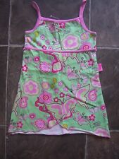 BNWNT Girl's Barbie Green & Pink Cotton Knit Summer Dress Size 4