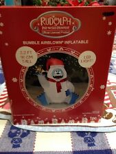 NEW Gemmy 3.2 Ft Lighted Rudolph  Bumble Christmas Airblown Inflatable Blow-up