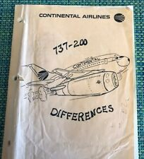 Continental  Airlines Maintenance Boeing 737-200 training manual 140 Pages Rare