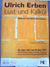 Ulrich eredi-firmato a mano-esposizione MANIFESTO - 2012-Museo Küppersmühle