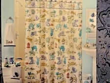 NEW~Whimsical FUN Cats~Dogs Bow Wow Meow~fabric SHOWER CURTAIN~Saturday Knight